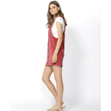 Women's Dresses Online | Candid Cord Pinafore in Berry | SASS