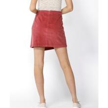 Women's Skirts | Candid Button Thru Cord Skirt in Berry | SASS