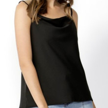 Women's Camis Australia | Good Vibes Cowl Neck Cami in Black | SASS