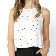 Women's Blouses | Floating Hearts Crop Blouse | SASS