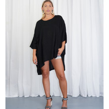 Women's Top | KL447 Top in Black | KIIK LUXE
