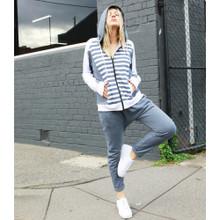 Women's Jackets | Rory Spliced Zip Hoodie | BETTY BASICS