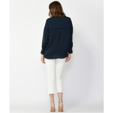 Tops For Women | Daytime Oversized V-Neck Shirt | FATE + BECKER