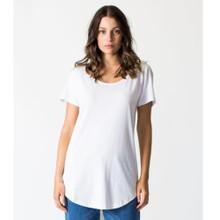 Women's Tops | Tall Tee in White | CASA AMUK