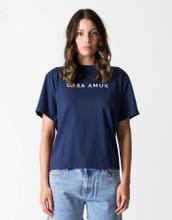 Women's Tops | Logo Vintage Tee in Vintage Navy| CASA AMUK