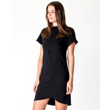 Women's Dresses | Cross Seam Dress in Black | CASA AMUK