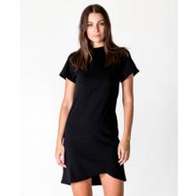 Women's Dresses | Cross Seam Dress in Black | CASA AMUK
