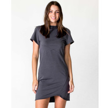 Women's Dresses | Cross Seam Dress in Asphalt | CASA AMUK