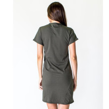 Women's Dresses | Cross Seam Dress in Olive | CASA AMUK