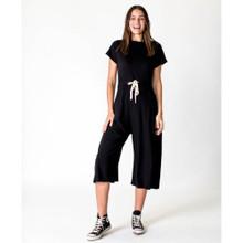 Women's Jumpsuits | Drawstring Jumpsuit in Black | CASA AMUK
