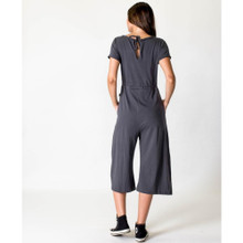 Women's Jumpsuits | Drawstring Jumpsuit in Asphalt | CASA AMUK