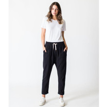 Women's Pants | Linen Pant in Black | CASA AMUK