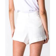 Women's Shorts |  Linen Short in White | CASA AMUK