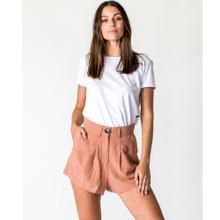 Women's Shorts |  Linen Short in Salmon | CASA AMUK