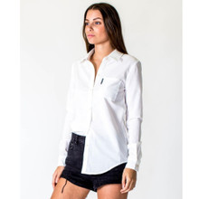 Women's Tops | Linen Shirt in White | CASA AMUK