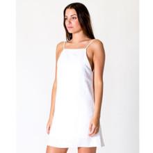 Women's Dresses   A-line Linen Dress in White   CASA AMUK