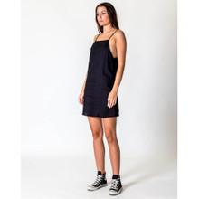 Women's Dresses   A-line Linen Dress in Black   CASA AMUK
