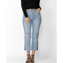 Women's Pants | Hunter Velvet Stripe Jean | SASS