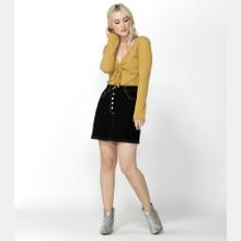 Women's Skirts Australia | Femme Fatale Buttoned Skirt in Black | SASS
