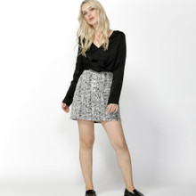 Women's Skirts Australia | Femme Fatale Buttoned Skirt in Snake Print | SASS