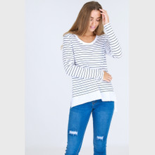 Women's Tops | Strumpet Tee in Stripe | 3RD STORY