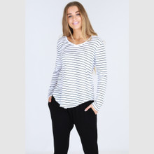 Women's Tops | Portsea Tee in Stripe | 3RD STORY