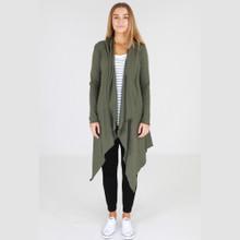 Jacket's for Women   Alexandria Long Cardi in Khaki   3RD STORY