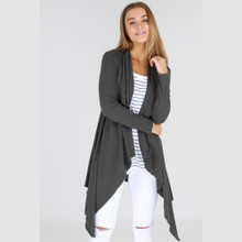 Jacket's for Women | Alexandria Long Cardi in Charcoal | 3RD STORY