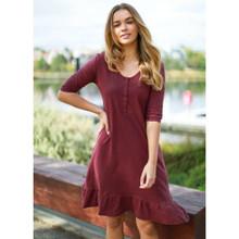 Ladies Dresses | Noosa Dress in Wine | 3RD STORY