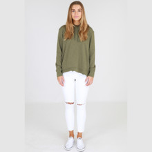 Sweaters for Women Online | Kendall Sweater in Khaki | 3RD STORY