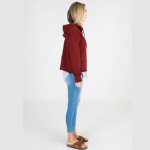 Sweaters for Women Australia| Greta Sweater in Wine | 3RD STORY
