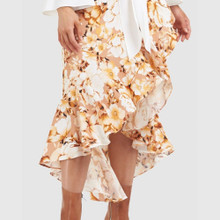 Ladies Skirts   Golden Flower Skirt   AMELIUS