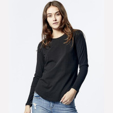 Women's Tops | Long Sleeve Saddle Hem Tee | CASA AMUK