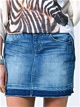 Womens Skirts Australia|White Water Denim Mini|FATE