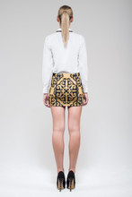 Women Skirts Australia,Swirl Print Mini Skirt,LUMIER