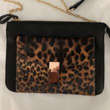 Women's Bags | Leopard Print Clutch | ALIBI