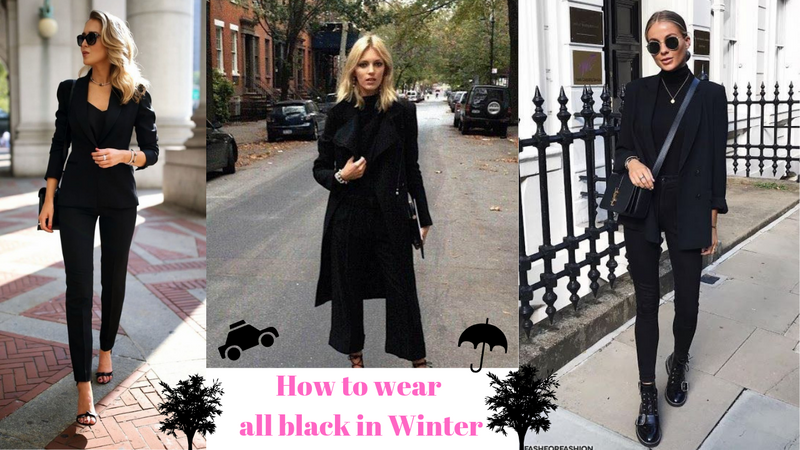 How To Wear All Black In Winter
