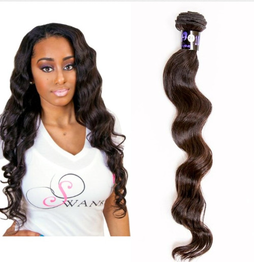 extensions weighs approximately 3.5 ounces. Our Peruvian Hair extensions has  has minimal to no shedding and does not tangle, all cuticles intact and unidirectional. Peruvian virgin hair extension is durable and long lasting especially when properly maintained. Our 100% virgin Peruvian hair extension is soft and smooth and will retain its natural luster and vitality. Our hair is not mixed with any synthetic fibers, the cuticles all lay in one direction which offers long lasting usage, no shedding and no tangling. The versatility of Peruvian hair gives you a natural wave, yet affords the ease of switching to straight when flat ironed.