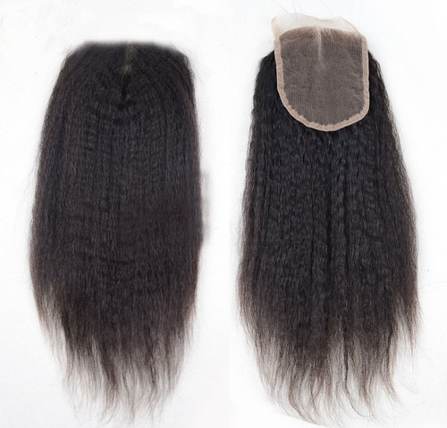 Mongolian Kinky Straight Closure