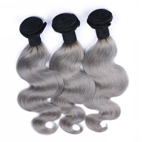 HUE Grey Body Wave 3 bundles