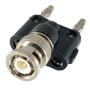 BNC Male to Double Banana Plug Adapter