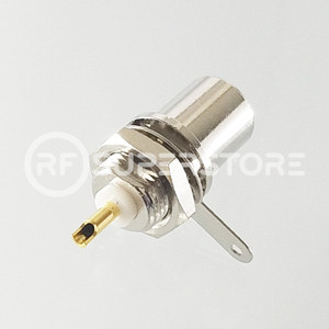 FME Plug Bulkhead Front Mount Connector Solder Attachment Terminal, Nickel Plating