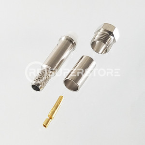 FME Jack Connector Crimp Attachment Coax RG55A, RG58A, RG58C, Nickel Plating
