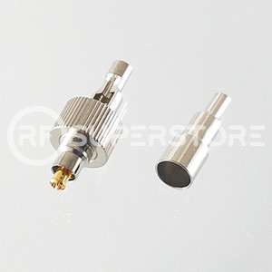 MC-Card Plug Connector Crimp Attachment Coax 1.13mm, 1.32mm, 1.37mm, Nickel Plating