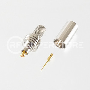 MC-Card Plug Connector Crimp Attachment Coax RG55A, RG58A, RG58C, Nickel Plating