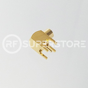 MCX Jack Right Angle Connector Solder Attachment PCB Through Hole, Gold Plating