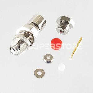 Reverse Polarity SMA Female Bulkhead Rear Mount Connector Clamp Attachment Coax RG178, Nickel Plating