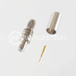 SMB Jack Connector Crimp Attachment Coax RG55A, RG58A, RG58C, Nickel Plating