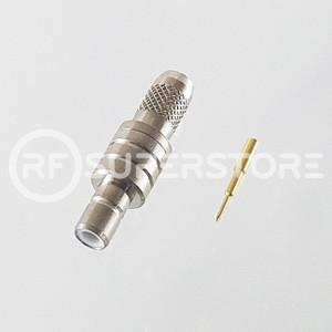 SMB Jack Connector Crimp Attachment Coax RG55, RG58, Nickel Plating
