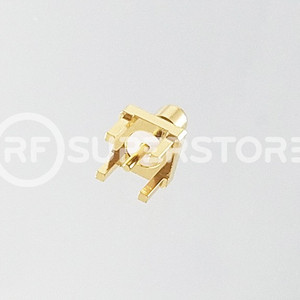 SMB Jack Connector Solder Attachment PCB Through Hole, Gold Plating